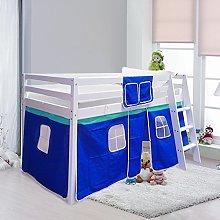 Warmiehomy Cabin Bed Wooden Mid Sleeper Cabin Bunk