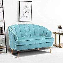 Warmiehomy Comfy Velvet 2 Seater Sofa 2 Tub