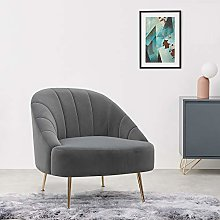 Warmiehomy Comfy Velvet Occasional Accent Chair