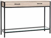 Warmiehomy Console Table with 2 Drawers, Side