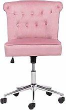 Warmiehomy Desk Chair Linen Office Chair Executive
