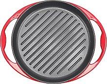 Warmiehomy Enameled Cast Iron Grill Pan, 26cm