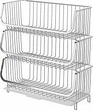 Warmiehomy Kitchen Storage Baskets, Large Wire