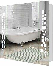 Warmiehomy LED Bathroom Mirror Cabinet Illuminated