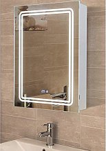 Warmiehomy LED Bathroom Mirror Cabinet with Lights