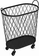 Warmiehomy Metal Laundry Basket with Casters Wire