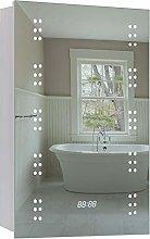 Warmiehomy Modern Illuminated Bathroom Mirror