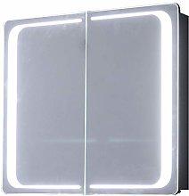 Warmiehomy Modern LED Bathroom Mirror Cabinet with