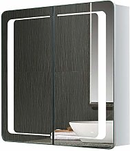 Warmiehomy Modern LED Illuminated Bathroom Mirror