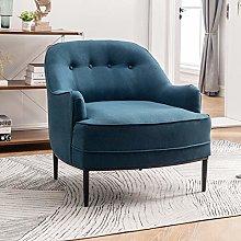 Warmiehomy Modern Linen Fabric Tub Chair Button