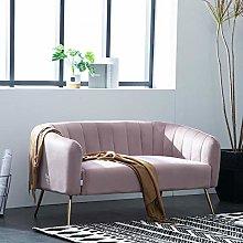 Warmiehomy Modern Velvet 2 Seater Sofa 2 Tub