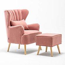Warmiehomy Modern Velvet Armchair Wing Back