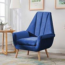 Warmiehomy Modern Velvet High Wing Accent Chair
