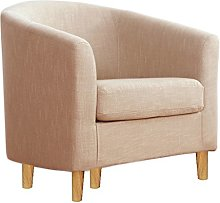 Warmiehomy Occasional Linen Fabric Tub Chair