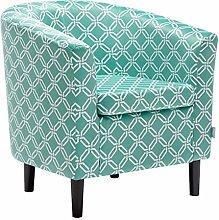 WarmieHomy Occasional Tub Chair Tartan Fabric