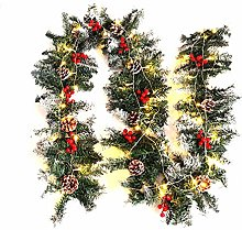 Warmiehomy Pre-lit Christmas Garland 2.7M