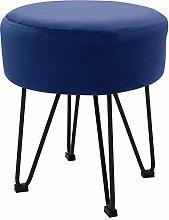 Warmiehomy Round Footstool Rest Ottoman Velvet