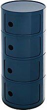 Warmiehomy Round Storage Unit Plastic Cabinet For