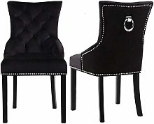 Warmiehomy Set of 2 Crushed Velvet Dining Chairs