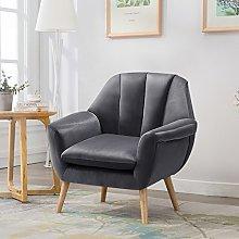 Warmiehomy Soft Velvet Armchair Upholstered