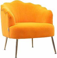 Warmiehomy Stunning Velvet Armchair Scalloped Back