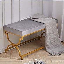 Warmiehomy Upholstery Fabric Velvet Footstool For