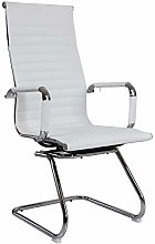 Warmiehomy White High Back Leather Office Chair