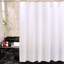 Warmiehomy White Shower Curtain, Mould/Mildew