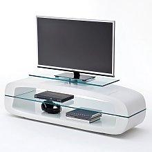 Warmingham Modern Glass TV Stand In High Gloss