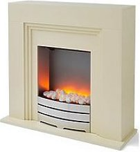 Warmlite York Electric Fireplace - Ivory