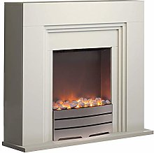 Warmlite York Ivory Electric Fireplace Suite with