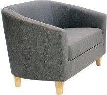 Warner Loveseat Rosdorf Park Upholstery: Linen Grey