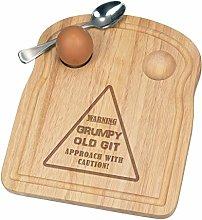 Warning Grumpy Old Git Yellow Breakfast Dippy Egg