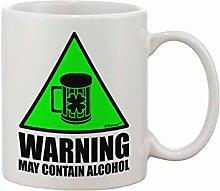 Warning May Contain Alcohol Printed Coffee Mug