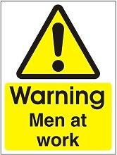 Warning Men At Work' Sign. 450x600 Rigid