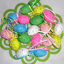 Warooma Easter Egg Hanger,36 Pcs Plastic Decorated