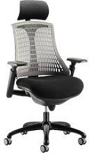 Warp Black Frame Grey Mesh Back Operator Chair