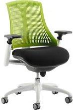 Warp White Frame Green Mesh Back Operator Chair,
