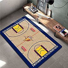 Warriors Carpets for Teen Boys Basketball Printed