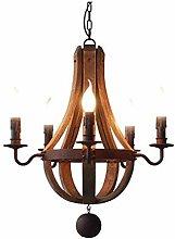 WArriors Retro Chandelier,Distressed Wood Craft