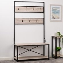 Warwick Hallway Wooden Coat Rack And Seating Bench