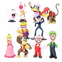 wasd 10Pcs/Set Super Mario Figures Luigi Toad