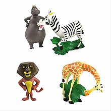 wasd 4pcs Madagascar Toys Model Dolls Animal Lion