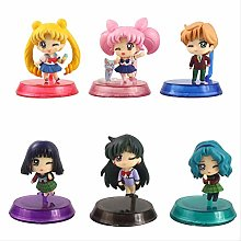wasd 6pcs/set 6cm Sailor Moon Tsukino Jupiter