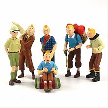 wasd 6pcs/set 9cm The Adventures Pvc Tintin Action