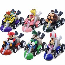 wasd 6styles/set Super Mario Kart Pull Back Cars