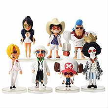 wasd 7pcs/lot Anime Luffy Brook Chopper Sanji
