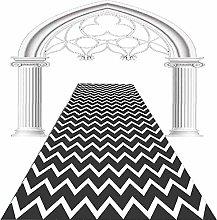 Washable Carpet Runner 3D Black And White Stripes