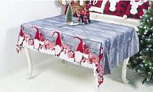 Washable Christmas Tablecloth: Red Plaid/Two