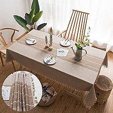 Washable Cotton Linen Tablecloth Rectangular